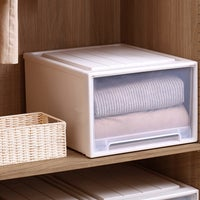 2x Storage Boxes Drawer Weighted Blanket Clothes Container Organiser 39x30cm