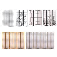 Levede Room Divider Screen 3/4/6/8 Panel Privacy Wooden Dividers Timber Stand