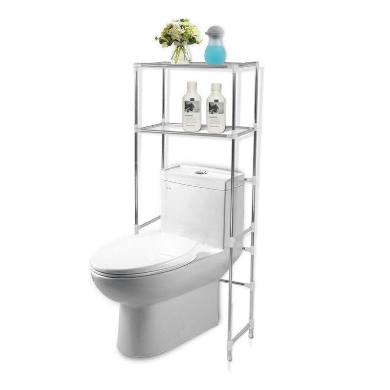 2 Tier Toilet Bathroom Laundry Washing Machine Storage Rack Shelf Unit Organizer Buy Bathroom Shelves 308662