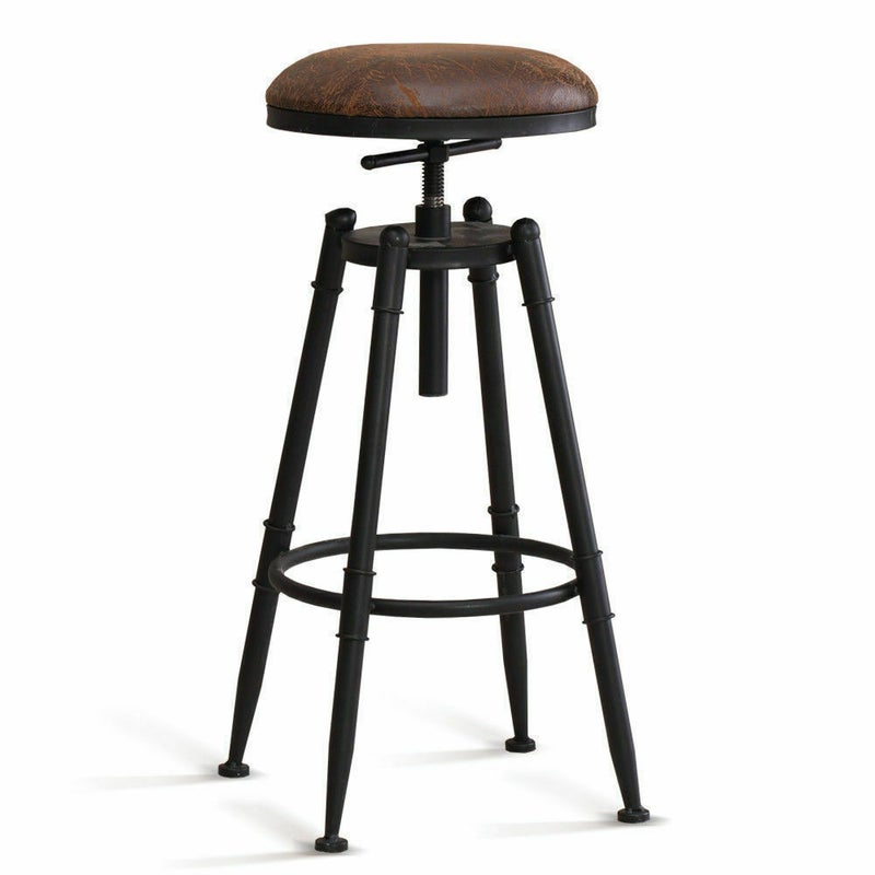 4x levede rustic industrial bar stool kitchen stool