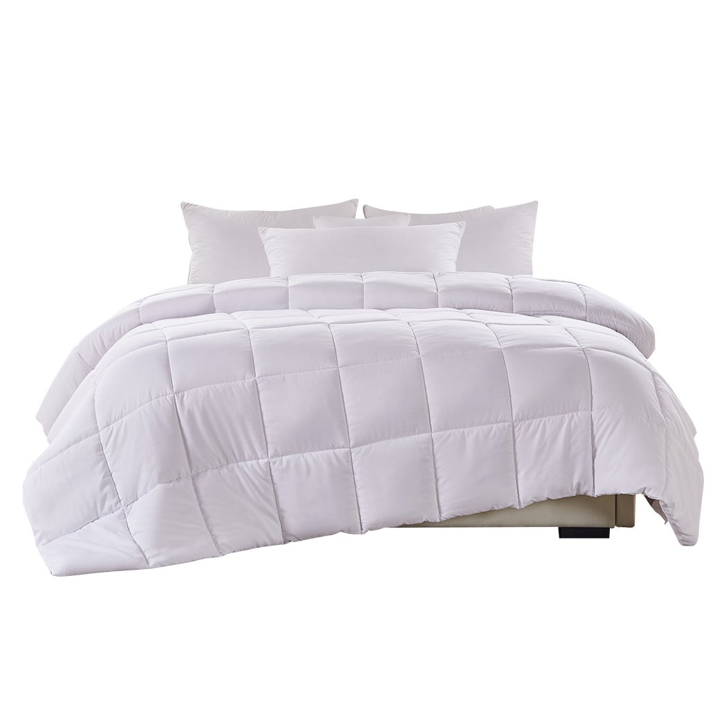 DreamZ 200GSM All Season Bamboo Winter Summer Quilt Duvet Doona Soft Super King