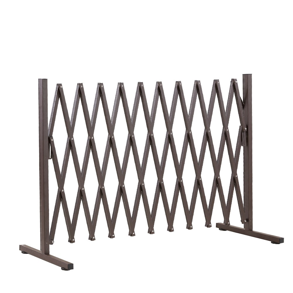 Garden Gate Safety Gate Metal Indoor Outdoor Expandable Fence Barrier Traffic