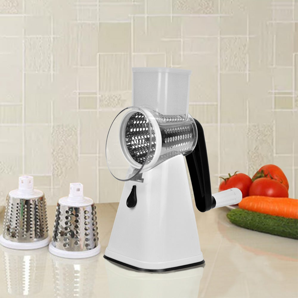 Kitchen Multifunction Vegetable Food Manual Rotary Grater Chopper Slicer Cutter