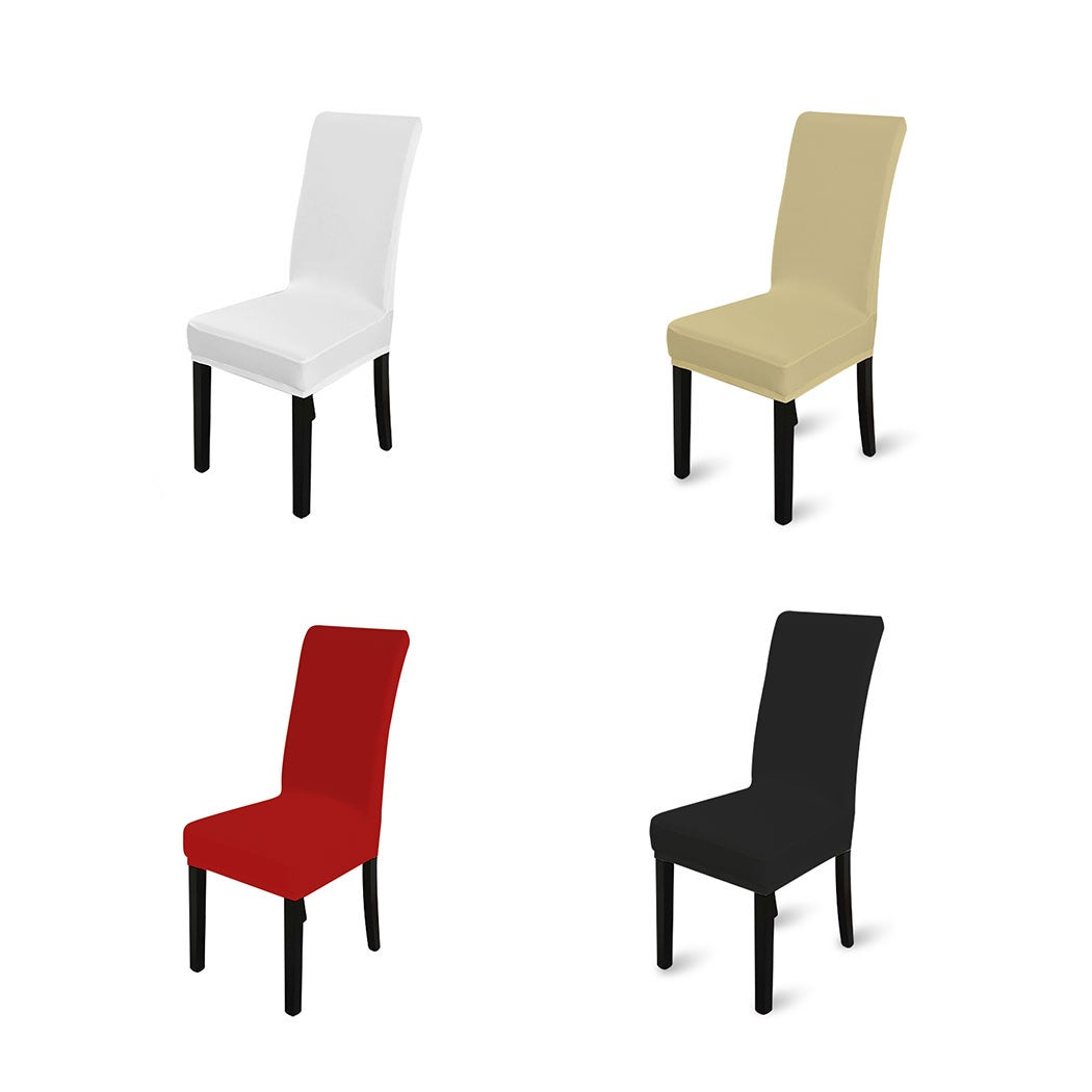 Set of 1/4/6/8 Plush Spandex Stretch Chair Covers
