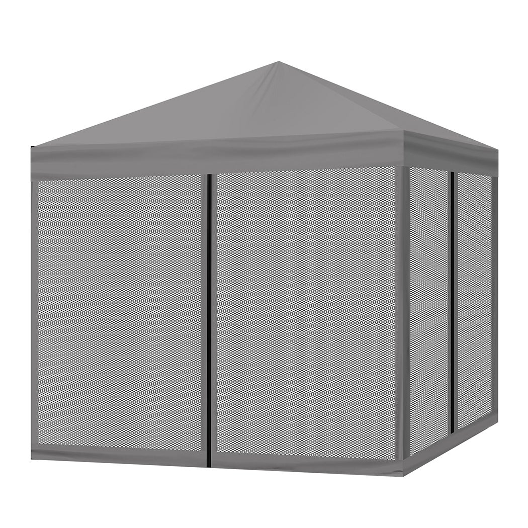 Mountview Gazebo 3x3m Pop Up Marquee Outdoor Mesh Side Wall Canopy Wedding Tent