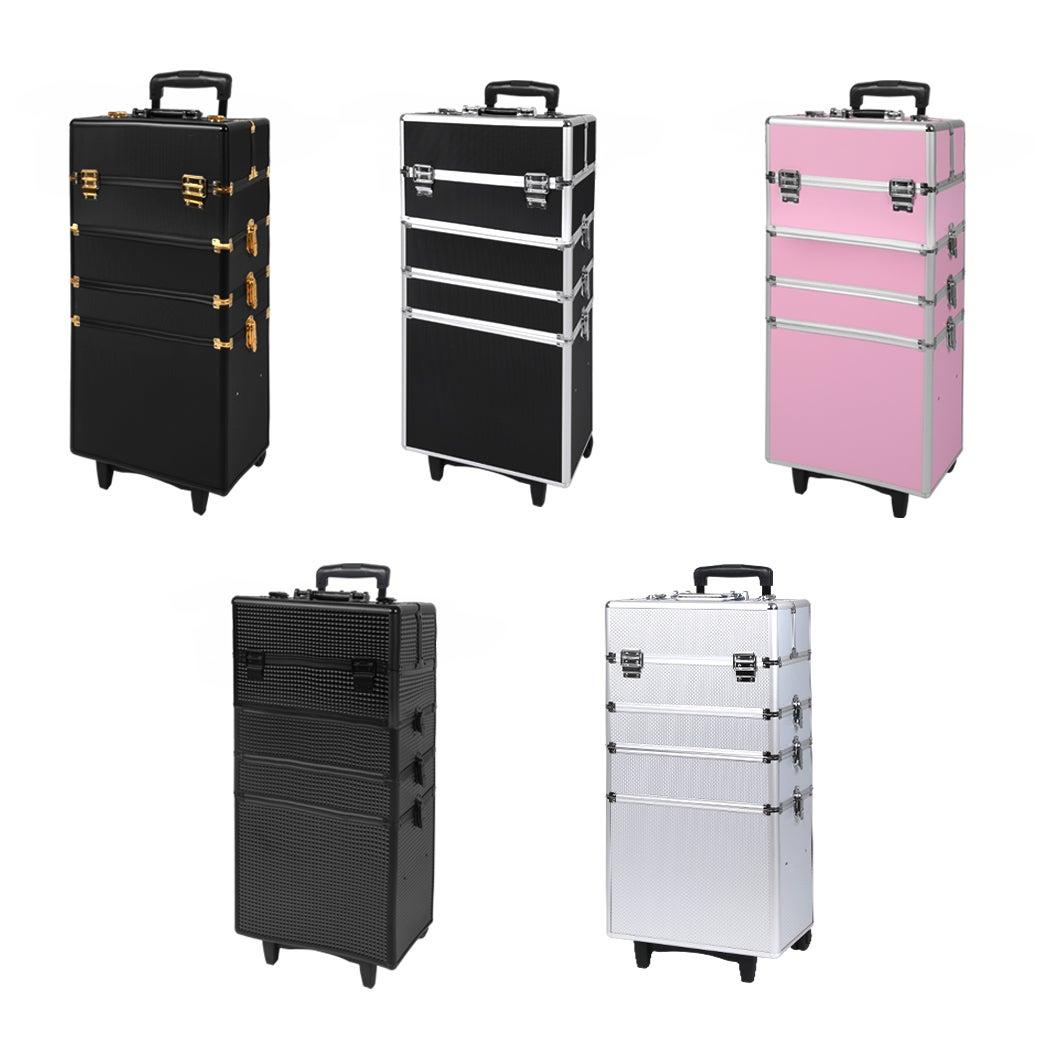 Professional Cosmetic Makeup Case Trolley Storage Organizer Box Travel Aluminum