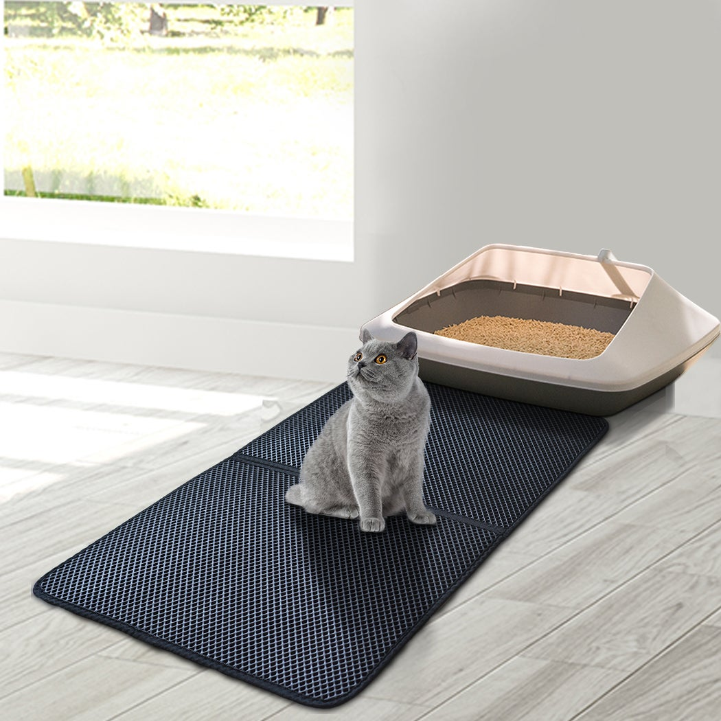 PaWz Waterproof Double-Layer Cat Litter Mat Trapper Foldable Pad Pet Rug Home