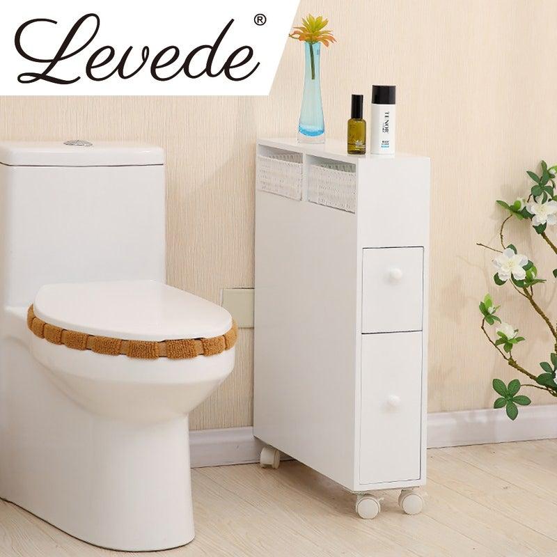 Levede Bathroom Storage Toilet Cabinet, Bathroom Toilet Cabinets