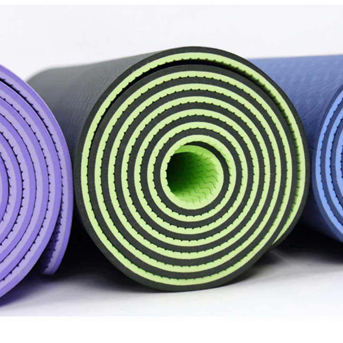 Eco-friendly TPE Yoga Mat / Gym Mat for Fitness Exercise (Multiple Colors)