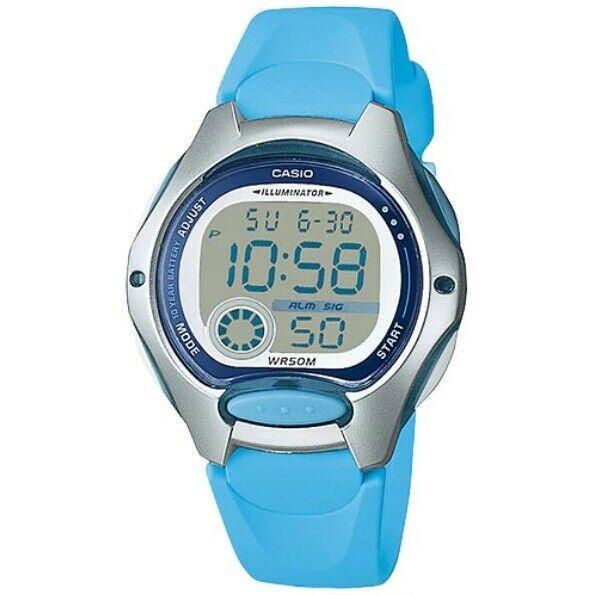 Casio LW-200-2B Silver Light Blue Women's or Kid's 50m Digital Sports Watch