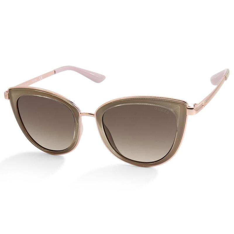 Guess GU7491 57F Rose Gold/Brown Gradient Women's Designer Sunglasses