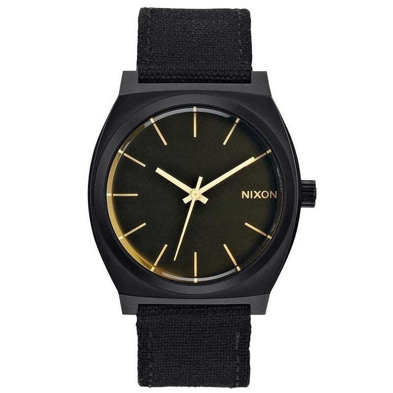 Nixon A0451354 Time Teller Matte Black Orange Tint Men's Analog Watch