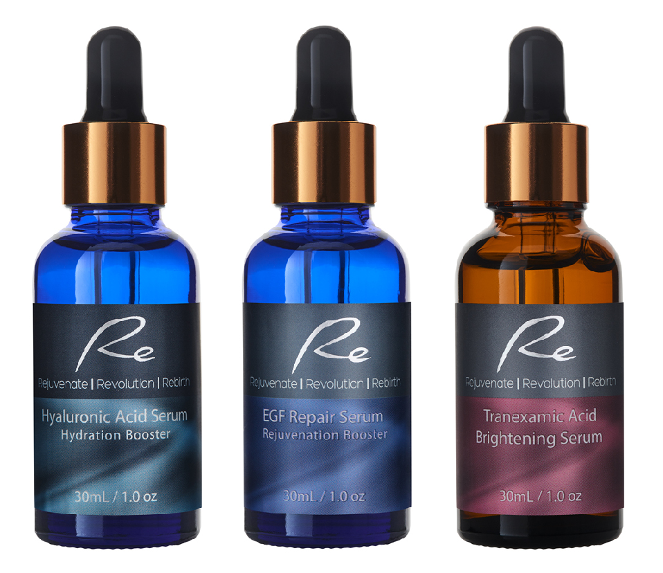 3 x Re Facial Serums - Regenerate Treatment AM/PM - 3x30mL