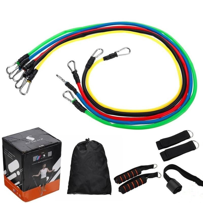 11 Pcs Fitness Pull Rope Latex Resistance Bands Body Fitness Equipment for Home Exercise