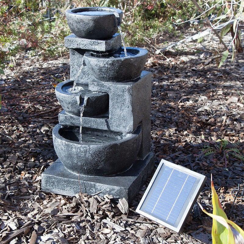 4 Tiers Casarding Solar Water Fountain