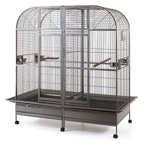 Double Cage with center divider for Bird Parrot Aviary