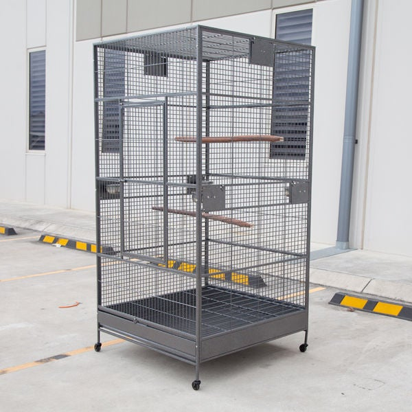 XXL Large Bird Flight Cage Parrot Aviary 205x102x102cm