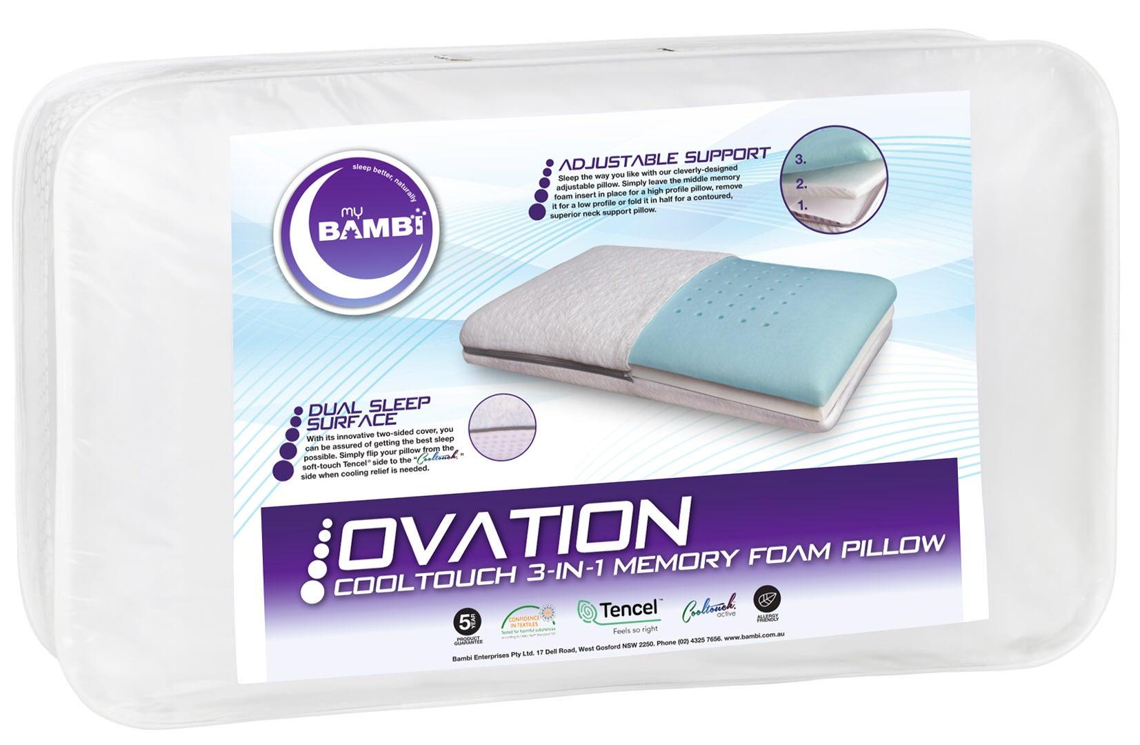 Ovation memory foam 3-in-1 Adjustable Pillow