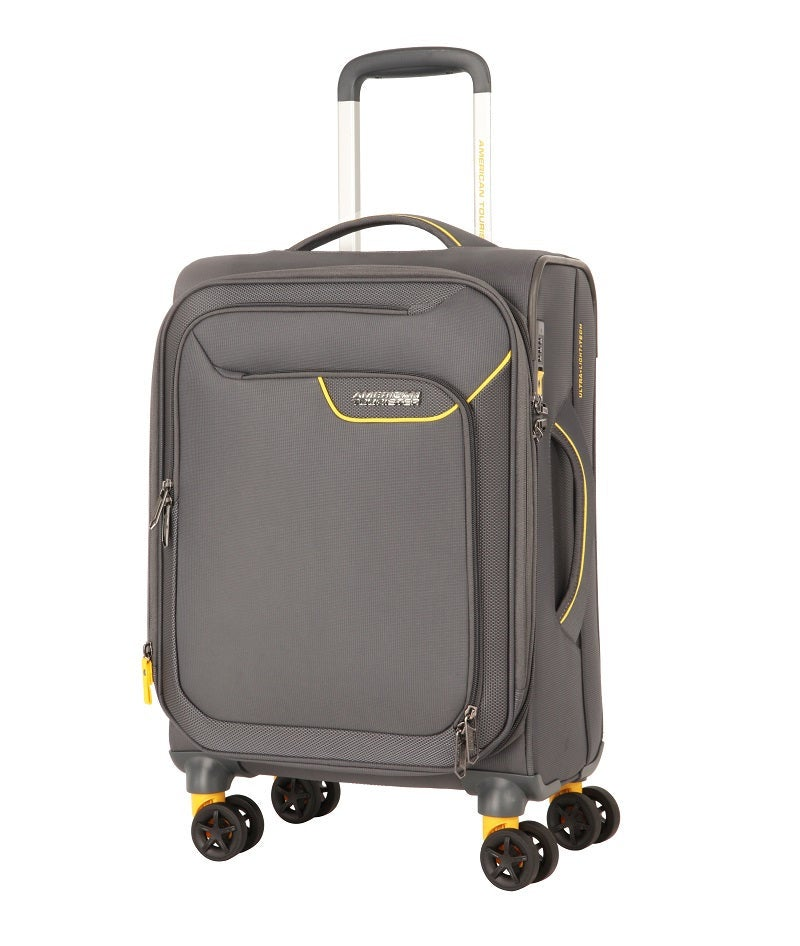 American Tourister - Applite 4.0 55cm Small 4 Wheel Soft Suitcase - Grey