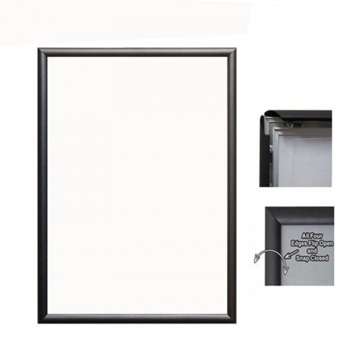TCS 5pc A1 Aluminium Frame with Plastic Back in Black