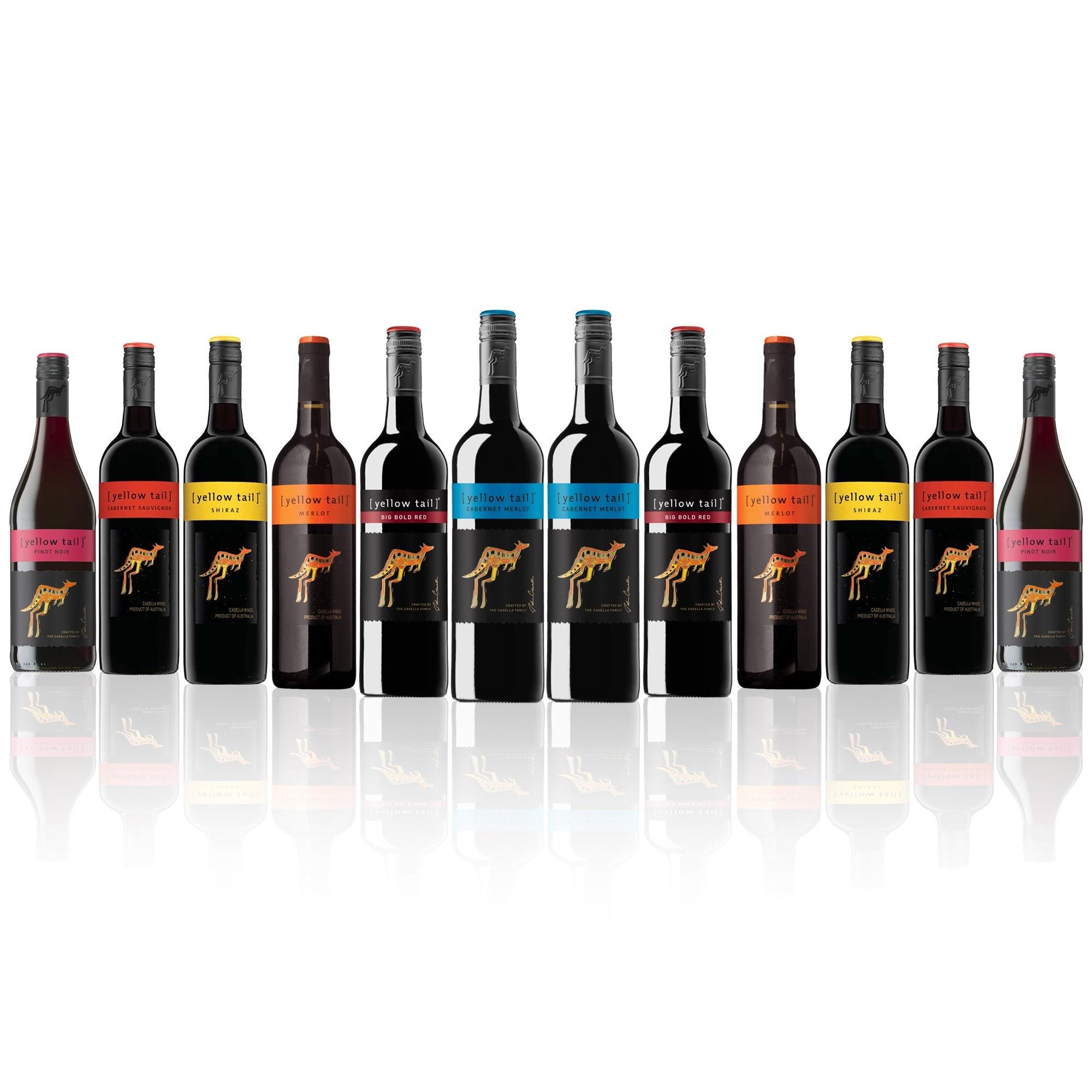 Yellow Tail Mixed Red Favourites Dozen (12 bottles)