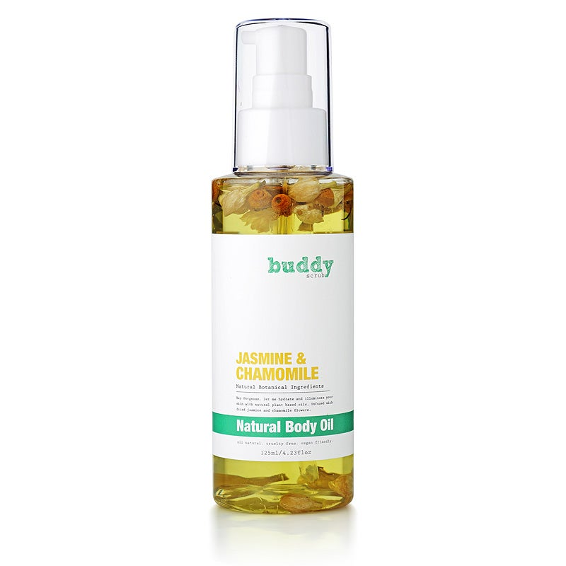 Buddy Scrub Jasmine & Chamomile Body Oil 125ml