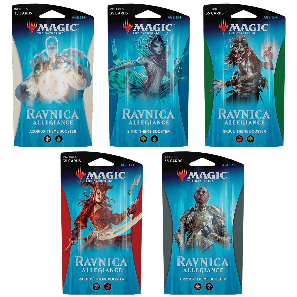 Ravnica Allegiance Theme Boosters (Set of 5) Magic the Gathering MTG