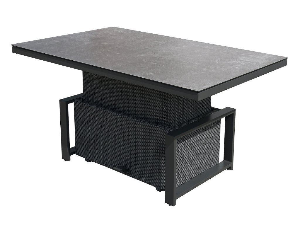 Manly Aluminium Outdoor Height Adjustable Table — Charcoal