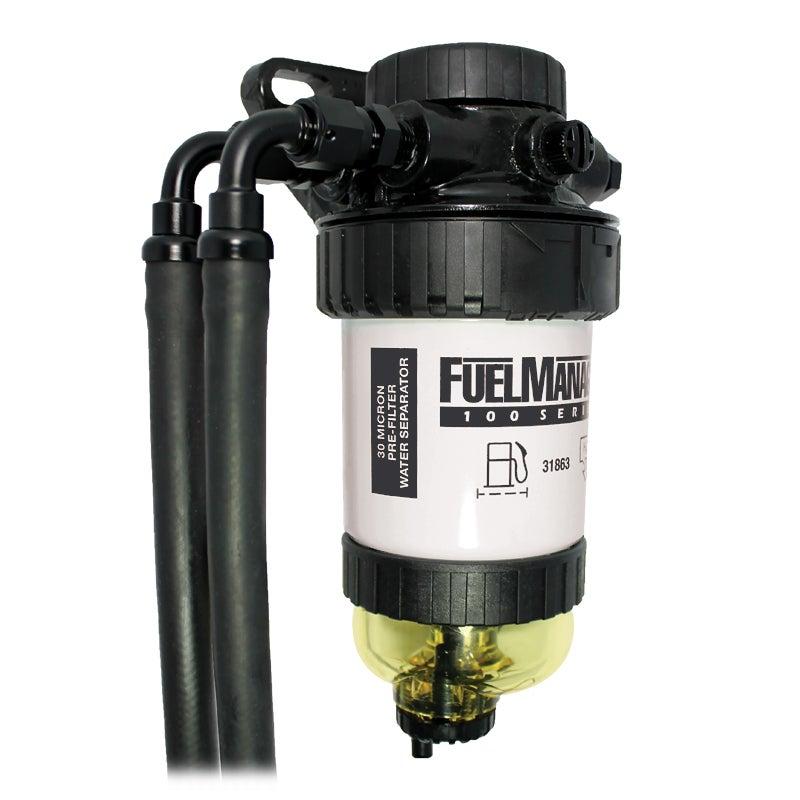 Diesel Fuel Pre Filter Water Separator Universal with Bracket 30 Micron Kit CRD