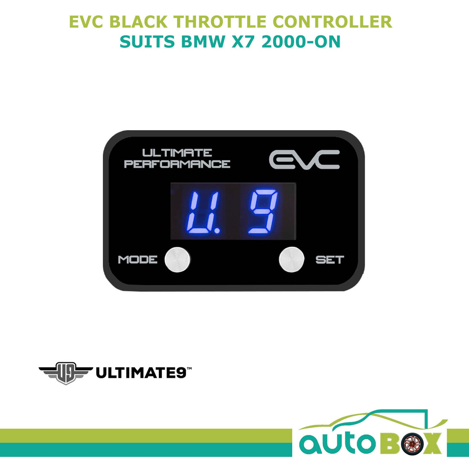 EVC BLACK iDRIVE ELECTRONIC THROTTLE CONTROLLER FOR BMW X7 2003 - ON WINDBOOSTER