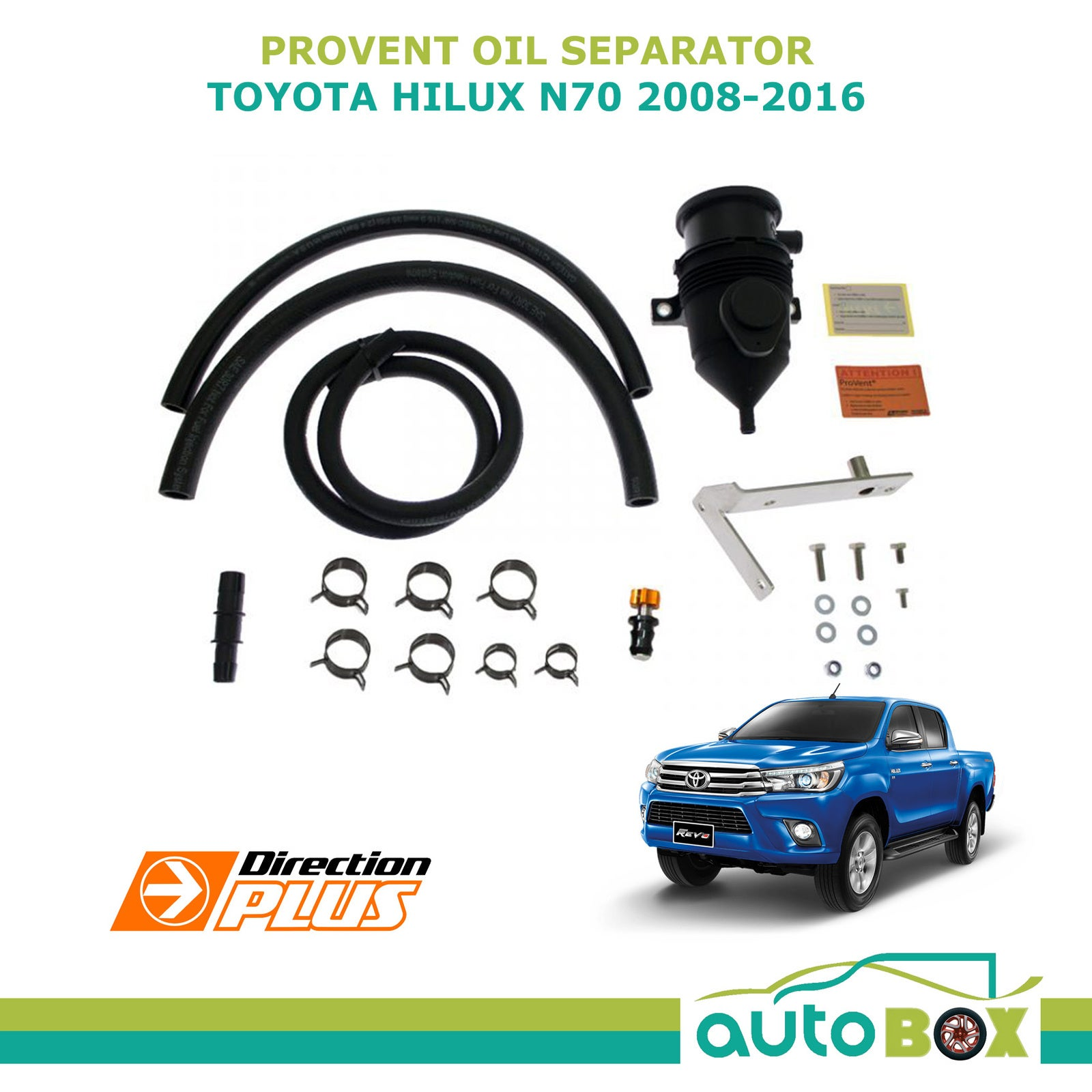 ProVent Oil Separator Catch Can for Toyota Hilux Diesel 3.0 N70 1KD-FTV 2008-16