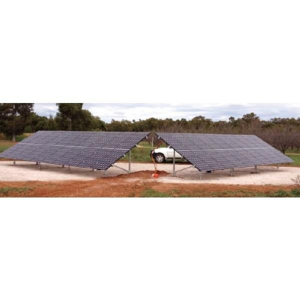 Ground Mount Array: 20 X 60 Cell Panels (Concrete Foundations)