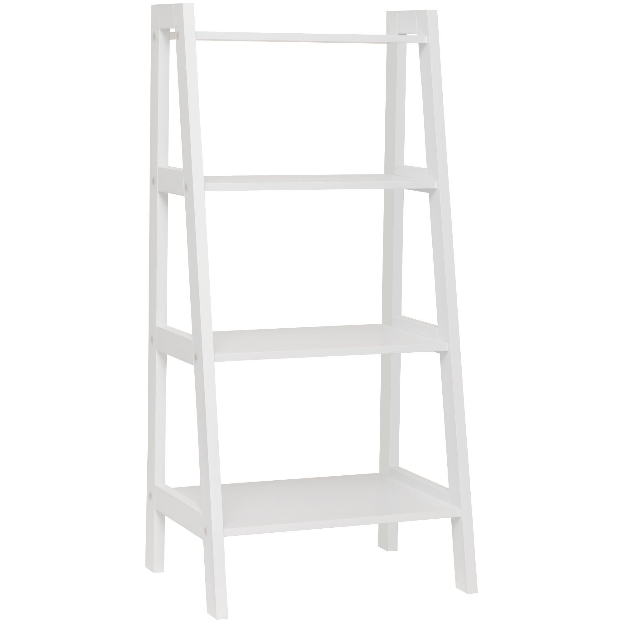 Maine 4 Tier MDF Ladder Display Shelves in White
