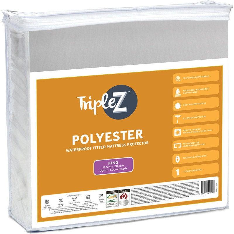 Triple Z King Size Polyester Mattress Protector