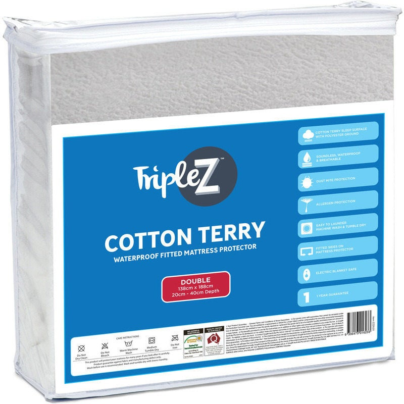Triple Z Double Size Terry Mattress Protector
