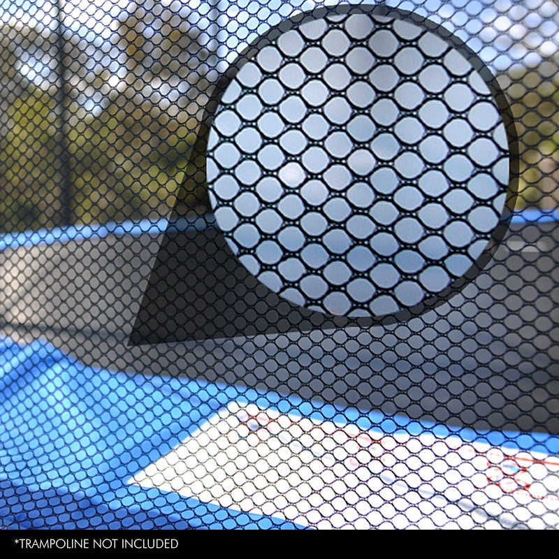 UP-SHOT Replacement Trampoline Safety Net Round Spare Part Enclosure 12ft 8 Pole