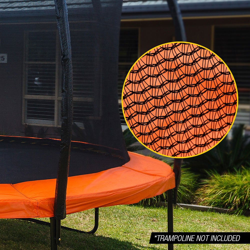 UP-SHOT 12ft Replacement Trampoline Inside Safety Net Spare Enclosure 8 Pole