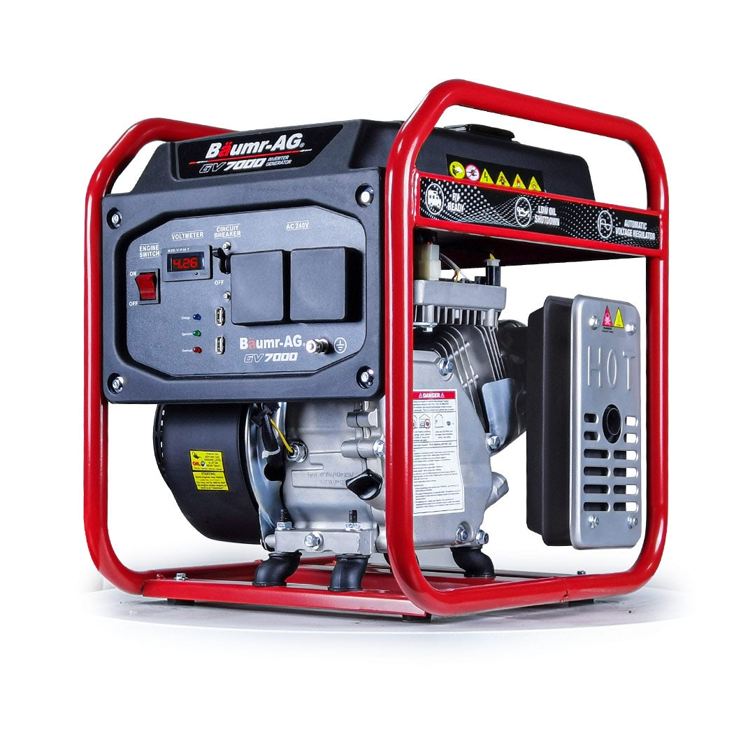 BAUMR-AG Inverter Generator 3.5kW Max 3.1kW Rated Portable Pure-Sine Quiet