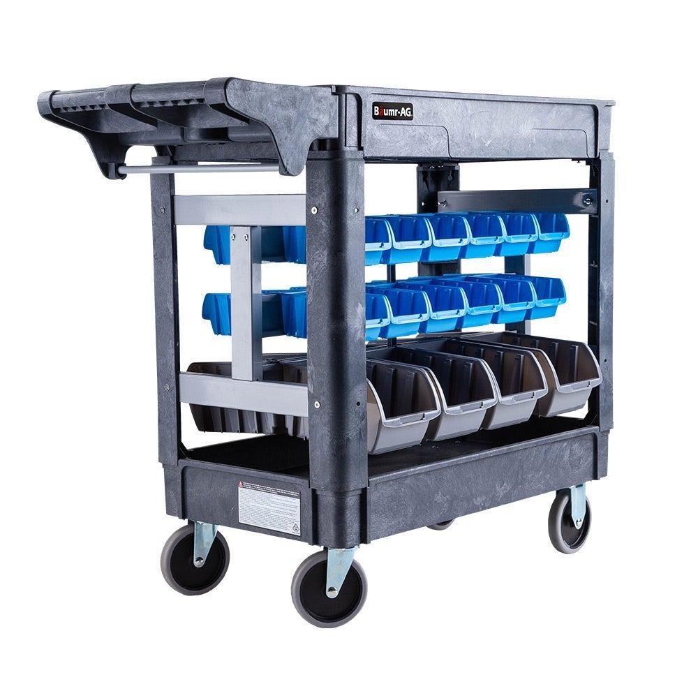 Baumr-AG Parts Bin Trolley Service Utility Cart Storage Mobile Tool Workshop