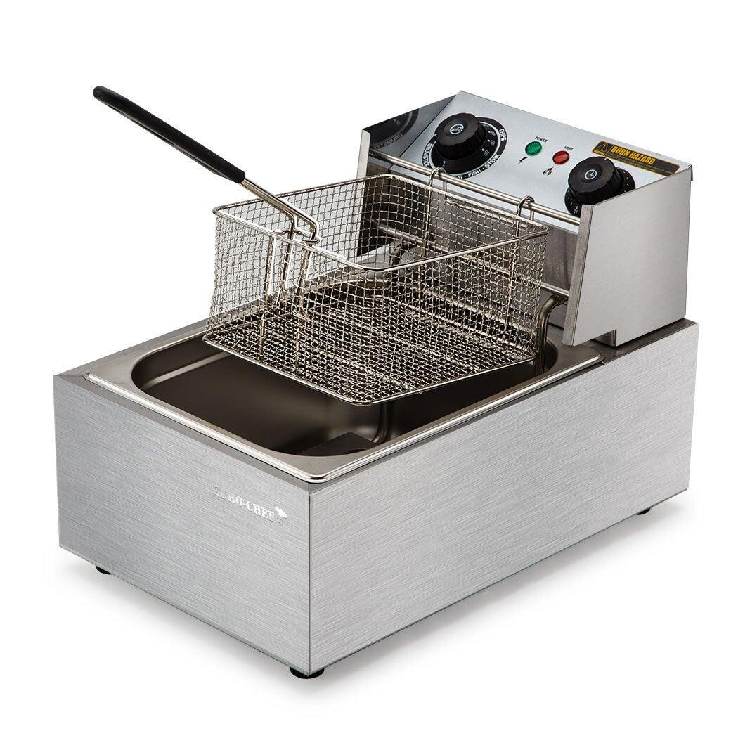 EuroChef Commercial Electric Deep Fryer Frying Basket Chip Cooker Fry Scoop (Pre-order)