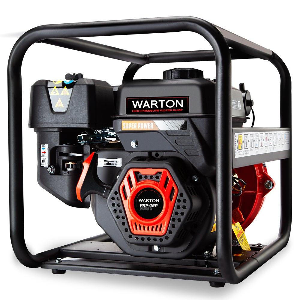 WARTON Petrol Water Pump 8HP Fire Fighting High Pressure Transfer Irrigation 4