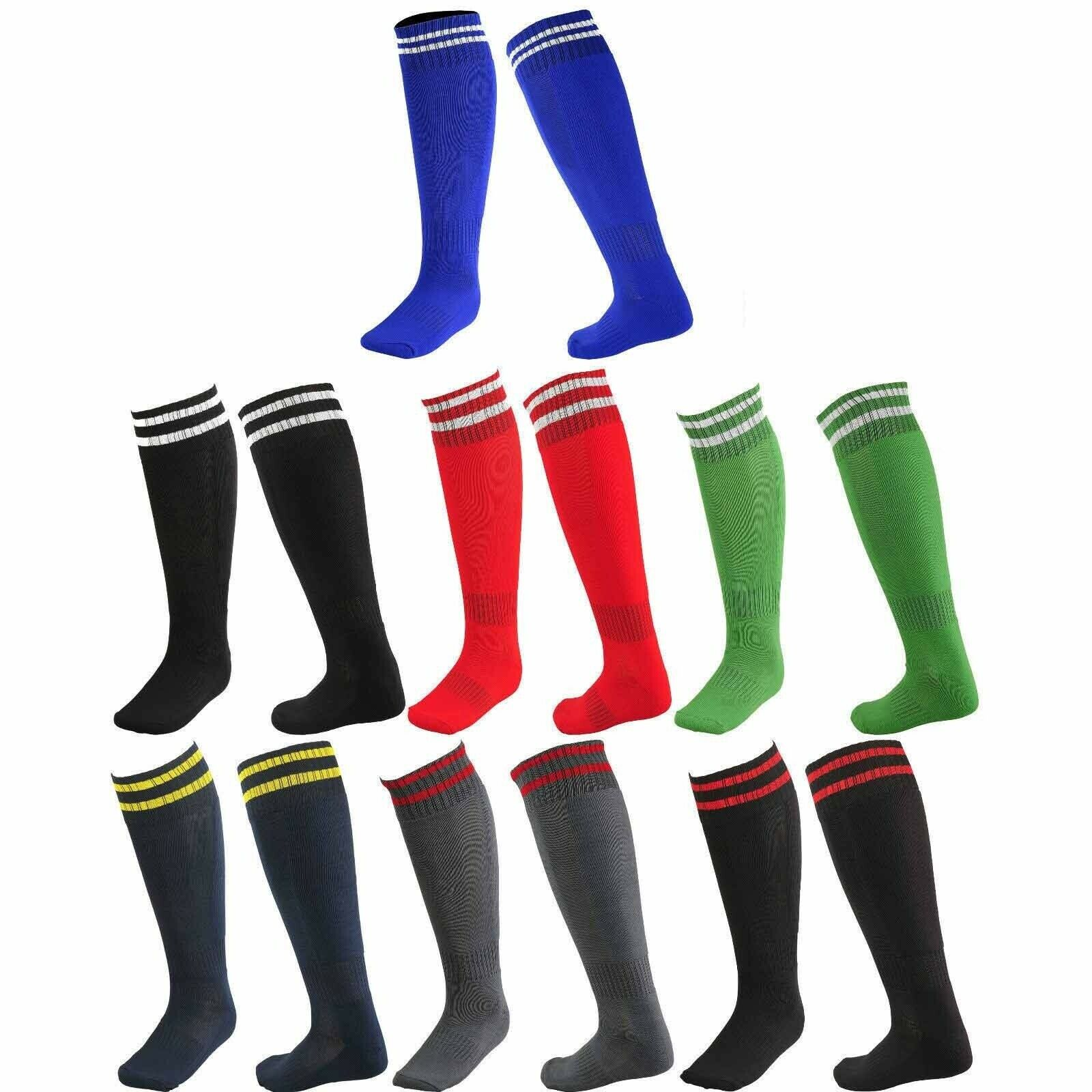 6 Pairs Mens Football Footy AFL Long Heavy Duty Over Knee Running Sports Socks