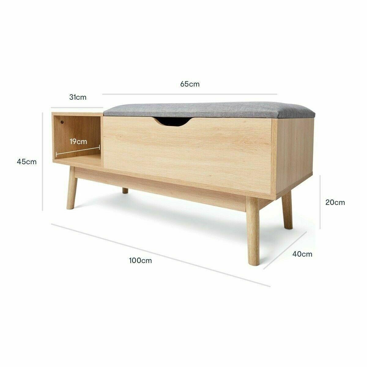 Storage Bench Ottoman Blanket Box Foot Stool Magazine Chest Couch Bench Grey