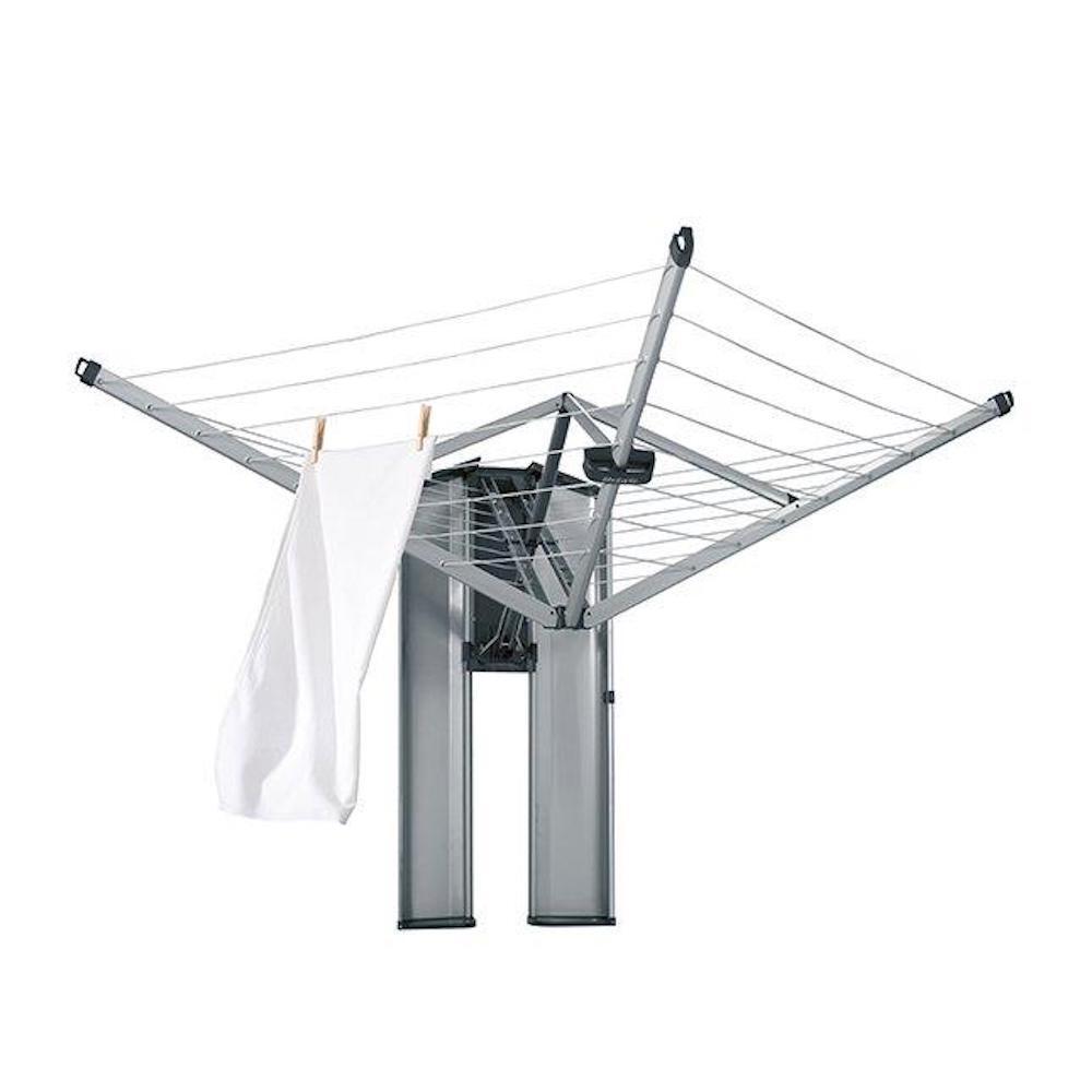 BRABANTIA Wall Fix Rotary Fold Away Clothes Line 24mm W/ STORAGE BOX Mount