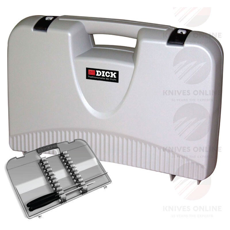 NEW FDICK LOCKABLE KNIFE CARRY CASE COOK CHEF SAFE F DICK - GREY