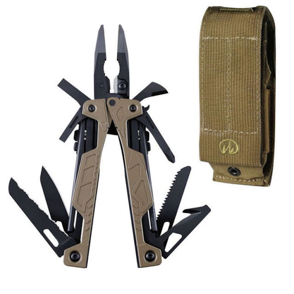NEW LEATHERMAN OHT COYOTE ONE HANDED MULTI-TOOL & MOLLE SHEATH