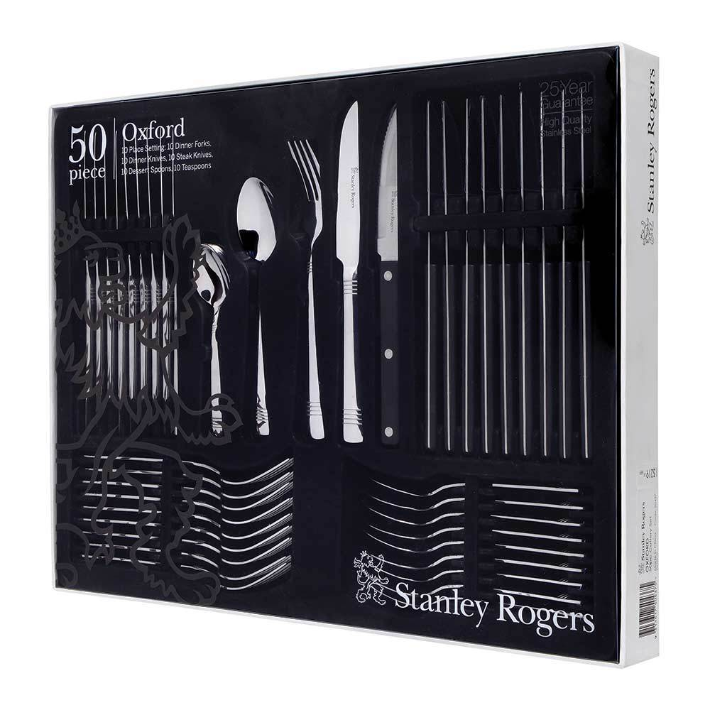 STANLEY ROGERS 50 Piece Stainless Steel OXFORD 50pc Cutlery Set