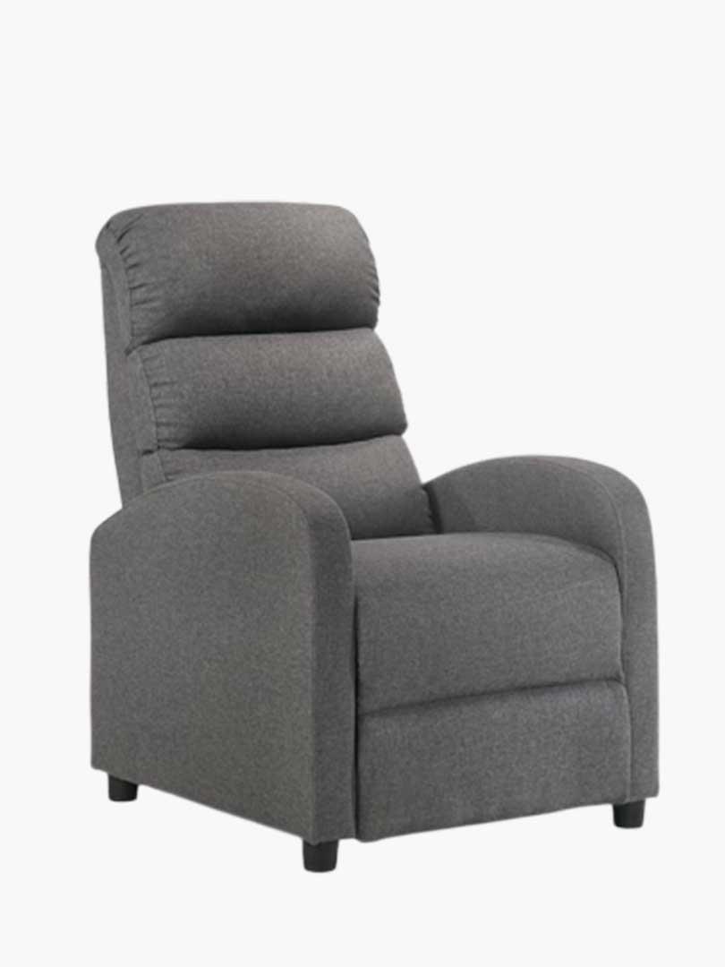 First Class Fabric Recliner Chair - Grey
