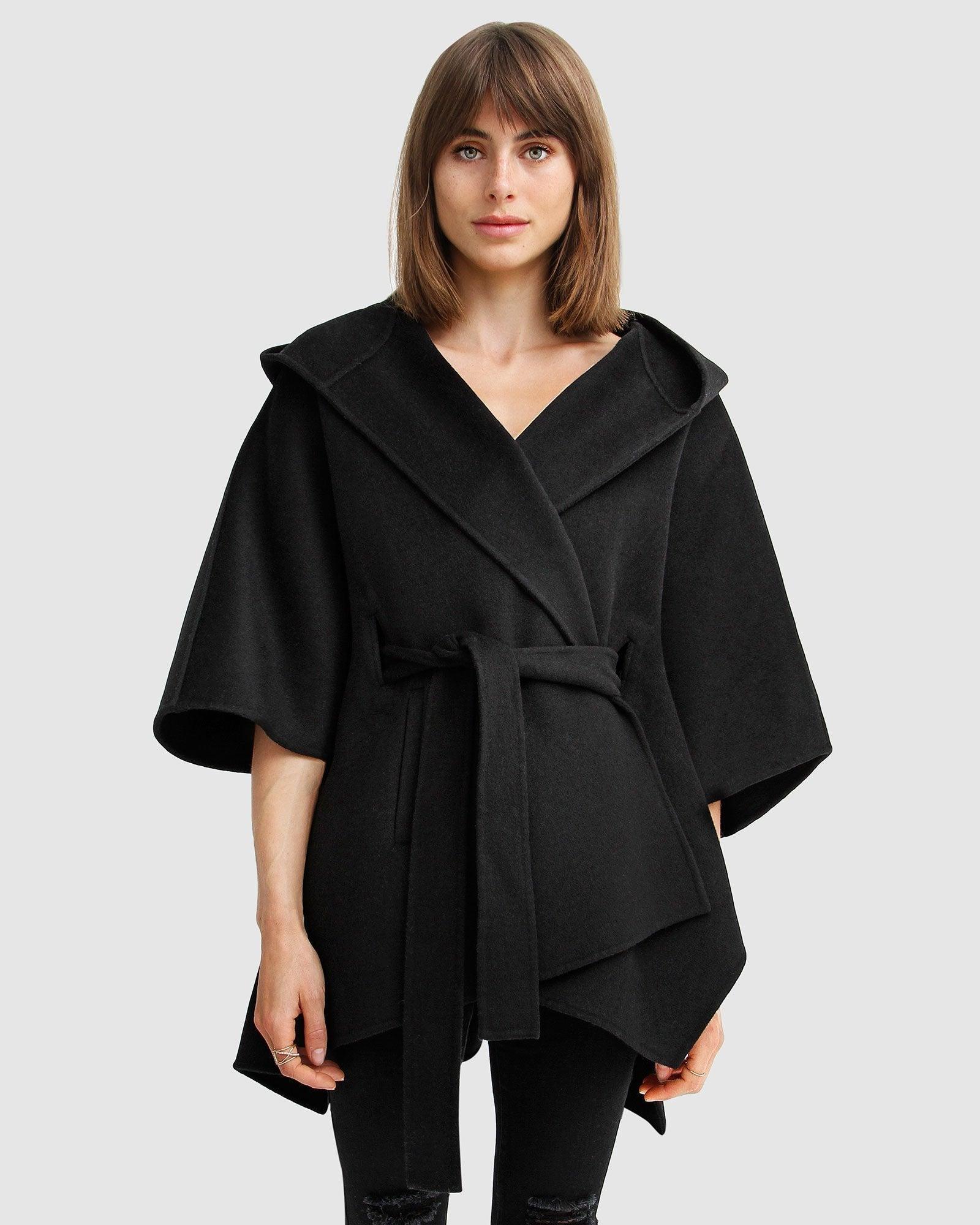 Jackson Landing Wool Blend Cape Coat - Black