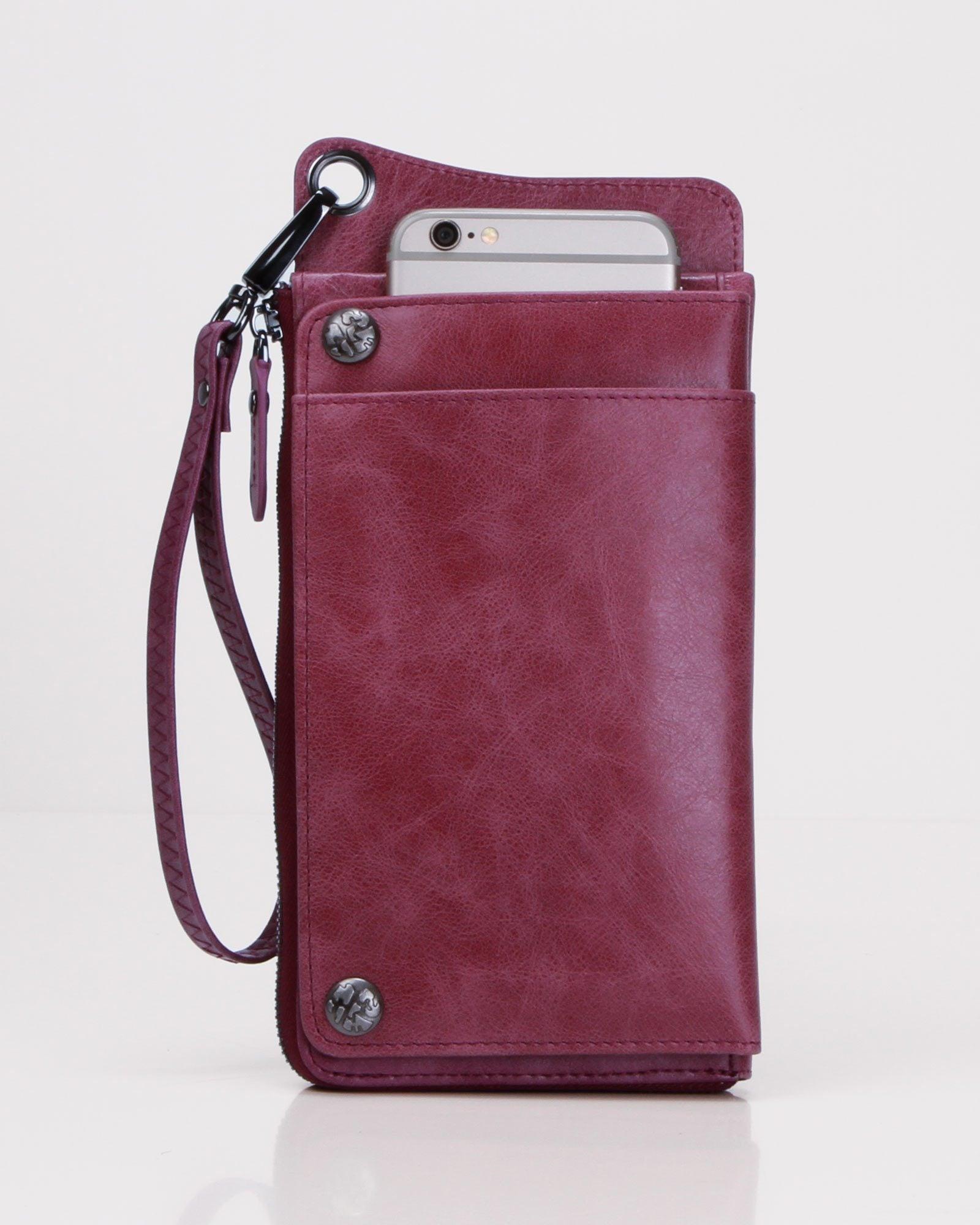 Penelope Leather Wallet - Purple
